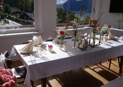 Basislager Schliersee Hochzeitspaartisch