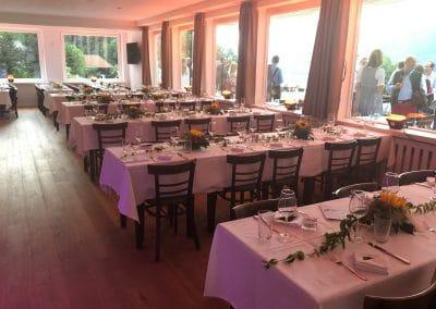 Basislager Schliersee Hochzeit Tafeln bayerisch