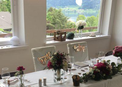 Basislager Schliersee  Brauttisch
