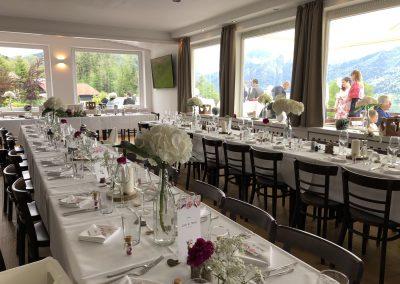 Basislager Schliersee Hochzeit Tisch eingedeckt Tafel